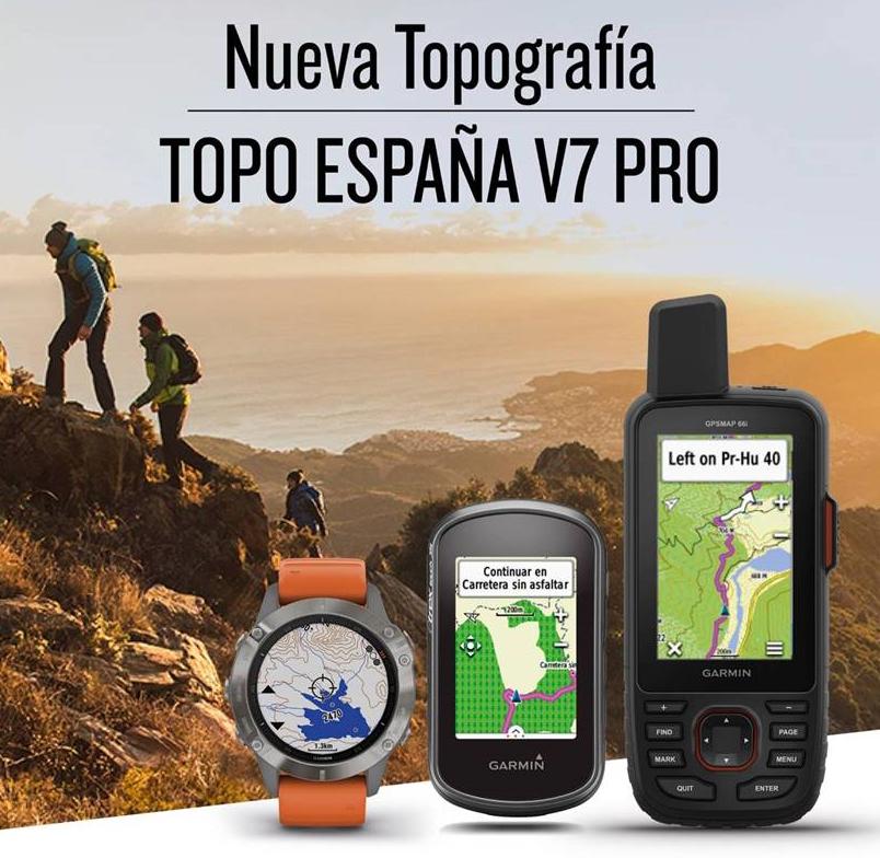 ORIGINAL Mapa Garmin TOPO España V7 PRO Spain 2020 +100 vendidos incluye guía