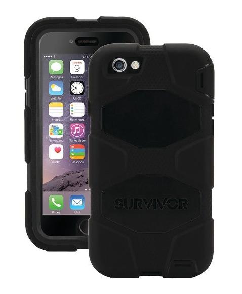 Funda iPhone 6S Plus / 6 Plus Griffin Survivor Slim- Negra