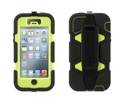 cf397375158 Griffin Survivor Funda protectora para iPhone 5 Negro-verde | Zona ...