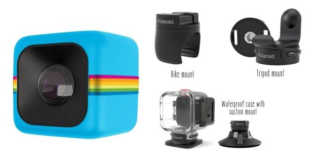 9d1a898e2f Polaroid Cube azul, mini-cámara Full HD 1080p | Zona Outdoor