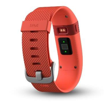 d3e1ff551099 Pulsera fitness Fitbit Charge HR naranja grande | Zona Outdoor