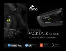 Nuevo intercom moto Cardo PackTalk BOLD Black edition