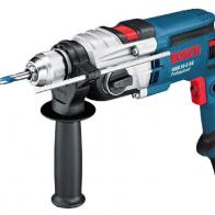 Taladro percutor Bosch GSB 19-2RE de 850W de potencia con portabrocas de sujeción rápida de 13mm