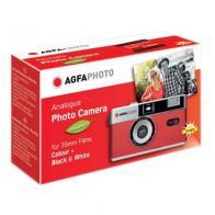 Cámara clásica agfaphoto 35mm rojo reutilizable