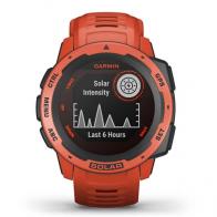 REloj GPS Garmin Instinct solar rojo