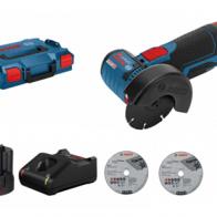 Pack mini amoladora Bosch GWS 12V-76 Professional con 2 baterias y maletín
