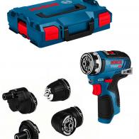 Pack atornillador impacto Bosch GSR 12V-35 FC con maletín y accesorios