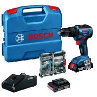 Bosch GSR 18V-55 Profesional, pack atornillador con 2 baterias, cargador y maletín