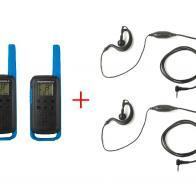 Pack Walkies Motorola T62 azul con micro-auricular MA-170