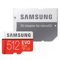 Tarjeta Samsung microSDXC EVO+ 512GB con adaptador MB-MC512GA/EU