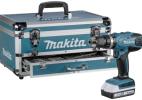 Kit de taladro atornillador Makita HP457DWEX4 con maletin y 70 accesorios