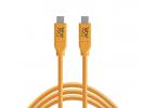Cable Tether Tools USB-C a USB-C 4,60m naranja
