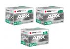 Paquete de 3 Carretes película Agfaphoto APX 400 135 36