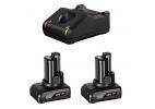 Pack 2 baterias Bosch GBA 12V 6Ah mas cargador GAL 12-40