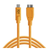Cable Tether Tools USB-C to 3.0 Micro- B 4,60m naranja