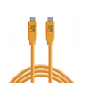 Cable Tether Tools USB-C a USB-C 4,60m naranja